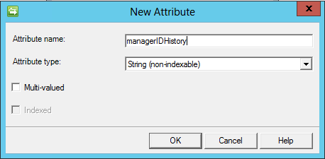 managerIDHistory attribute definition